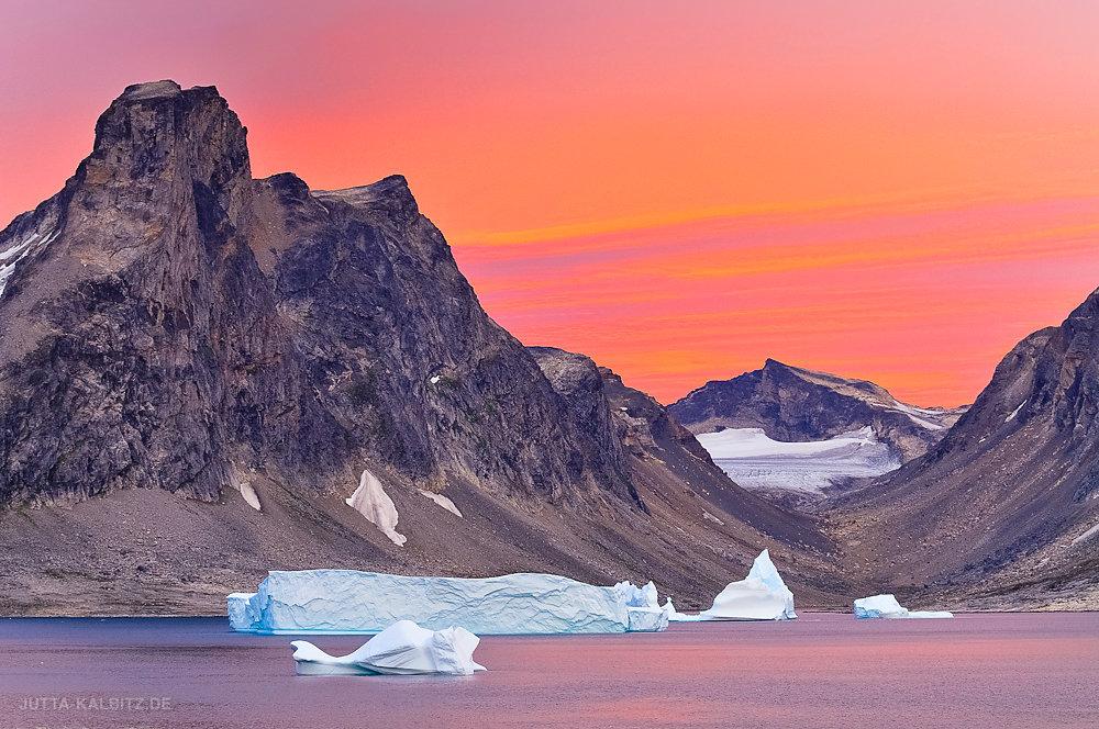 Mitternacht bei Sermiligaaq - Ostgrönland