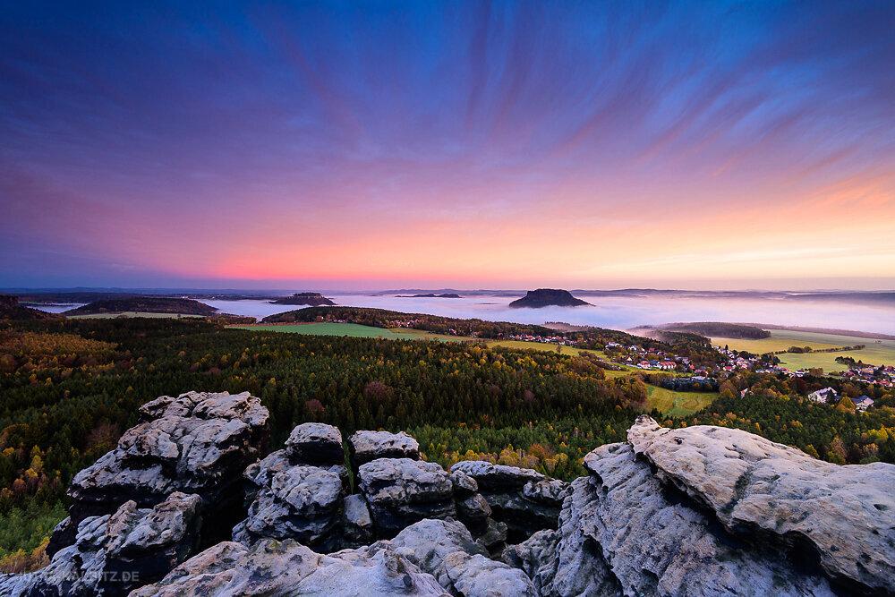 Blick vom Gohrisch - Sächsische Schweiz